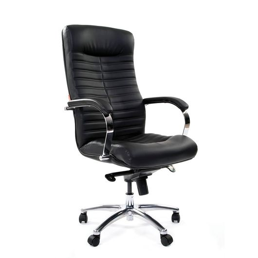 Кресло руководителя Chairman 480 кожа черный