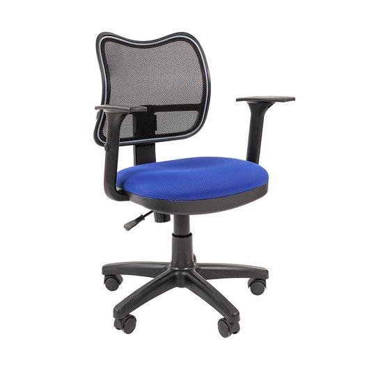 Кресло оператора Chairman 450 сетка/ткань черный/TW-10 синий