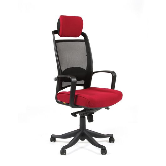 Кресло руководителя CHAIRMAN 283 сетка черная/ткань бордовая