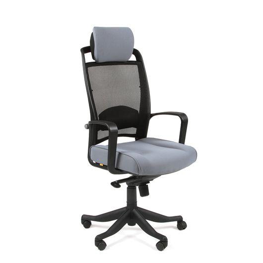 Кресло руководителя CHAIRMAN 283 сетка черная/ткань серая