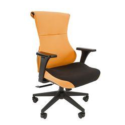 Кресло геймерское Chairman GAME 10 ткань черный/оранжевый