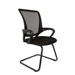 Кресло посетителя Chairman 969 V сетка черная/ткань черная