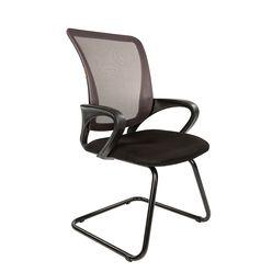 Кресло посетителя Chairman 969 V сетка серая/ткань черная