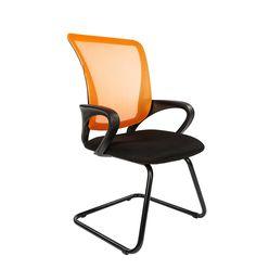 Кресло посетителя Chairman 969 V сетка оранжевая/ткань черная