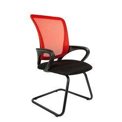 Кресло посетителя Chairman 969 V сетка красная/ткань черная