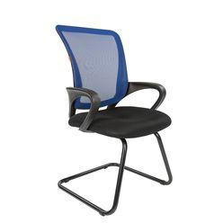 Кресло посетителя Chairman 969 V сетка синяя/ткань черная
