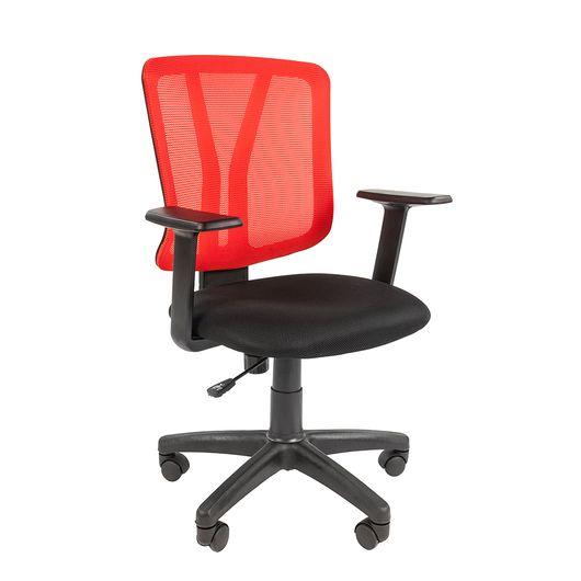 Кресло оператора Chairman 626 сетка/ткань красный/черный