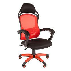 Кресло геймерское Chairman GAME 12 сетка/ткань красный/черный