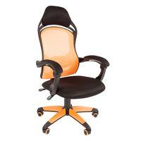 Кресло геймерское Chairman GAME 12 сетка/ткань оранжевый/черный