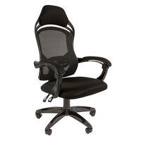 Кресло геймерское Chairman game 12 ткань черная/сетка черная