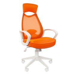 Кресло оператора Chairman 840 white сетка/ткань/экокожа оранжевый