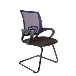 Кресло посетителя Chairman 696 V сетка/ткань синий/черный