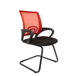 Кресло посетителя Chairman 696 V сетка/ткань красный/черный