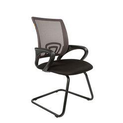 Кресло посетителя Chairman 696 V сетка/ткань серый/черный