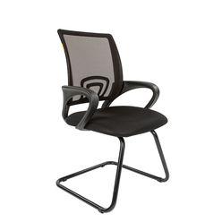 Кресло посетителя Chairman 696 V сетка черная/ткань черная
