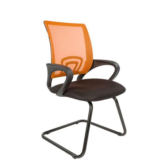 Кресло посетителя Chairman 696 V сетка/ткань оранжевый/черный