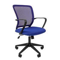 Кресло оператора Chairman 698 black сетка/ткань синий