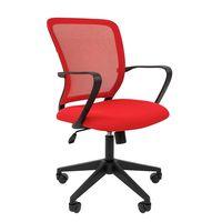 Кресло оператора Chairman 698 black сетка/ткань красный