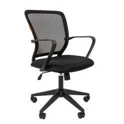 Кресло оператора Chairman 698 black сетка/ткань черный