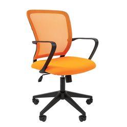 Кресло оператора Chairman 698 black сетка/ткань оранжевый