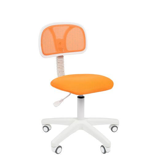 Кресло оператора Chairman 250 White сетка/ткань оранжевый
