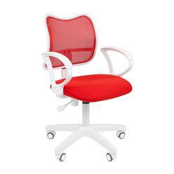 Кресло оператора Chairman 450 LT White сетка/ткань красный