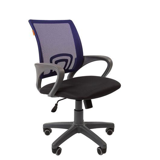 Кресло оператора Chairman 696 Grey сетка/ткань синий/черный