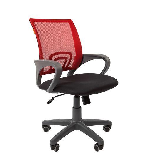 Кресло оператора Chairman 696 Grey сетка/ткань красный/черный