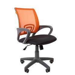 Кресло оператора Chairman 696 Grey сетка/ткань оранжевый/черный