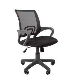 Кресло оператора Chairman 696 Grey сетка/ткань серый/черный