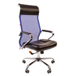 Кресло руководителя Chairman 700 сетка/экопремиум синий/черный