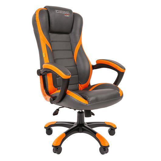 Кресло геймерское Chairman GAME 22 экопремиум серый/оранжевый