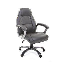 Кресло руководителя Chairman 436 кожа серый