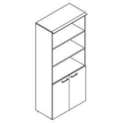 Шкаф с 1 комплектом глухих малых дверей и топом Skyland WAVE WHC 85.5 дуб сонома