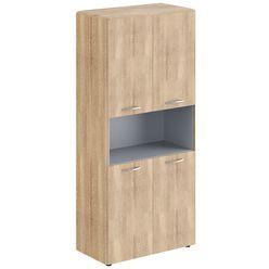 Шкаф с 2-мя комплектами глухих малых дверей и обвязкой Skyland DIONI DHC 85.4 дуб каньон