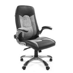 Кресло руководителя Chairman 439 экопремиум/микрофибра черный/серый