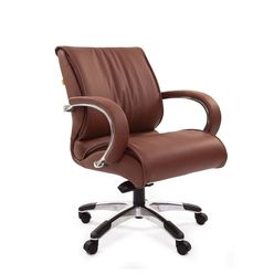 Кресло оператора Chairman 444 кожа коричневый