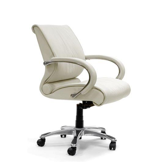 Кресло оператора Chairman 444 кожа белый
