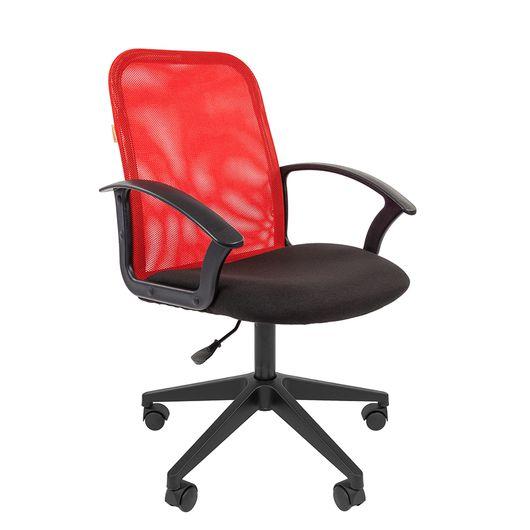 Кресло оператора Chairman 615 сетка/ткань красный/черный