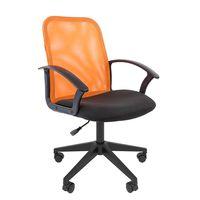 Кресло оператора Chairman 615 сетка/ткань оранжевый/черный