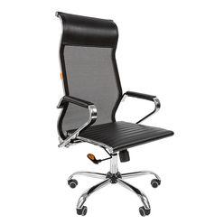 Кресло руководителя Chairman 701 сетка/экопремиум черный