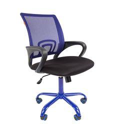 Кресло оператора Chairman 696 CMet сетка/ткань синий/черный