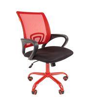 Кресло оператора Chairman 696 CMet сетка/ткань красный/черный