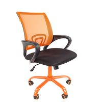 Кресло оператора Chairman 696 CMet сетка/ткань оранжевый/черный