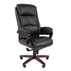 Кресло руководителя CHAIRMAN 404 кожа черная