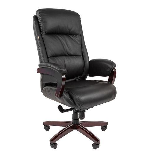 Кресло руководителя Chairman 404 кожа черный