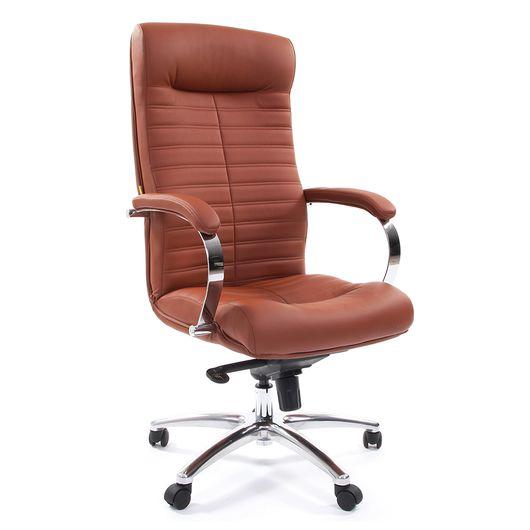 Кресло руководителя Chairman 480 экокожа коричневый