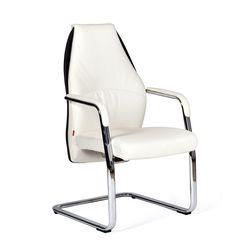 Кресло посетителя Chairman BASIC V экопремиум белый/черный