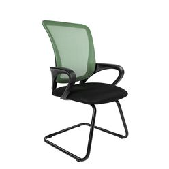 Кресло посетителя Chairman 969 V сетка зеленая/ткань черная