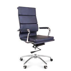 Кресло руководителя Chairman 750 экокожа синий